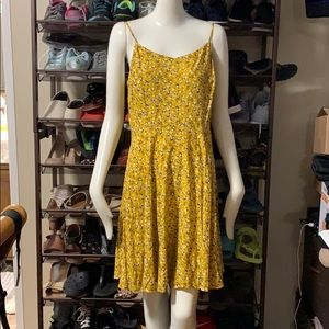 Yellow and Navy Sundress L